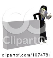 Clipart 3d Halloween Grim Reaper By A White Sign Royalty Free CGI Illustration