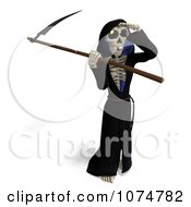 Clipart 3d Halloween Grim Reaper And Scythe 4 Royalty Free CGI Illustration