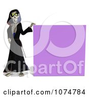Clipart 3d Halloween Grim Reaper By A Purple Sign Royalty Free CGI Illustration by Ralf61