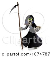 Clipart 3d Halloween Grim Reaper And Scythe 1 Royalty Free CGI Illustration by Ralf61