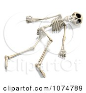 Clipart 3d Skeleton Lying On The Ground Royalty Free CGI Illustration by Ralf61