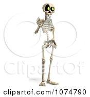 Clipart 3d Skeleton Waving Royalty Free CGI Illustration by Ralf61