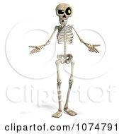 Clipart 3d Skeleton Shrugging Royalty Free CGI Illustration by Ralf61