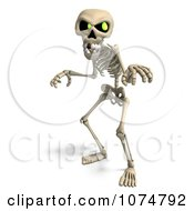Clipart 3d Skeleton Being Scary Royalty Free CGI Illustration by Ralf61