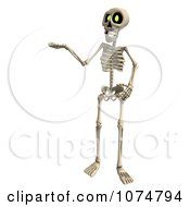 Clipart 3d Skeleton Presenting Royalty Free CGI Illustration by Ralf61