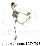 Clipart 3d Skeleton Dancing Royalty Free CGI Illustration by Ralf61