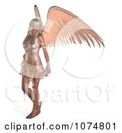 Clipart 3d Blond Angel Woman Royalty Free CGI Illustration by Ralf61