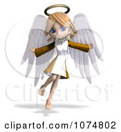 Clipart 3d Cute Angel Girl Flying 1 Royalty Free CGI Illustration by Ralf61