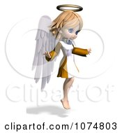 Clipart 3d Cute Angel Girl Flying 2 Royalty Free CGI Illustration by Ralf61