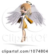 Clipart 3d Cute Angel Girl Flying 3 Royalty Free CGI Illustration by Ralf61