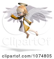 Clipart 3d Cute Angel Girl Flying 4 Royalty Free CGI Illustration by Ralf61