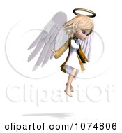 Clipart 3d Cute Angel Girl Flying 5 Royalty Free CGI Illustration by Ralf61