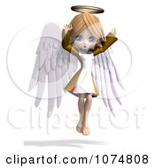 Clipart 3d Cute Angel Girl Flying 7 Royalty Free CGI Illustration by Ralf61
