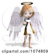 Clipart 3d Cute Angel Girl Waving Royalty Free CGI Illustration by Ralf61