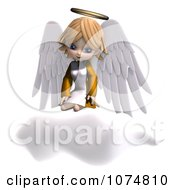 Clipart 3d Cute Angel Girl Sitting On A Cloud 1 Royalty Free CGI Illustration by Ralf61
