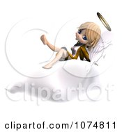 Clipart 3d Cute Angel Girl Sitting On A Cloud 2 Royalty Free CGI Illustration by Ralf61
