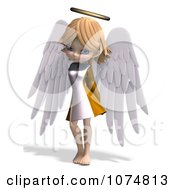 Clipart 3d Cute Angel Girl Royalty Free CGI Illustration