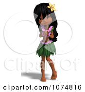 3d Hula Dancer Girl 9