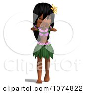 3d Hula Dancer Girl 4
