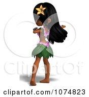 3d Hula Dancer Girl 6