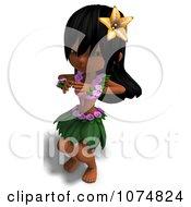 3d Hula Dancer Girl 7