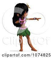 Clipart 3d Hula Dancer Girl 8 Royalty Free CGI Illustration