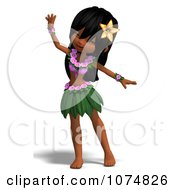Clipart 3d Hula Dancer Girl 1 Royalty Free CGI Illustration