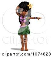 3d Hula Dancer Girl 5