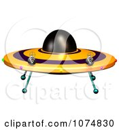 Clipart 3d UFO Flying Saucer Spacecraft 2 Royalty Free CGI Illustration