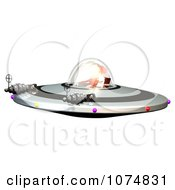 Clipart 3d UFO Flying Saucer Spacecraft 3 Royalty Free CGI Illustration