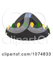 Clipart 3d UFO Flying Saucer Spacecraft 5 Royalty Free CGI Illustration