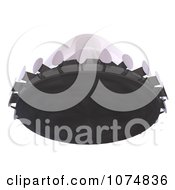 Clipart 3d UFO Flying Saucer Spacecraft 8 Royalty Free CGI Illustration