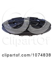 Clipart 3d UFO Flying Saucer Spacecraft 10 Royalty Free CGI Illustration