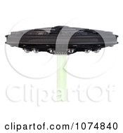 Clipart 3d UFO Flying Saucer Spacecraft 13 Royalty Free CGI Illustration