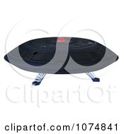 Clipart 3d UFO Flying Saucer Spacecraft 14 Royalty Free CGI Illustration