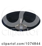 Clipart 3d UFO Flying Saucer Spacecraft 17 Royalty Free CGI Illustration by Ralf61