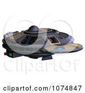 Clipart 3d UFO Flying Saucer Spacecraft 20 Royalty Free CGI Illustration by Ralf61