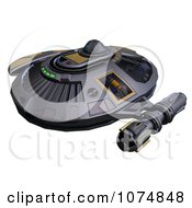 Clipart 3d UFO Flying Saucer Spacecraft 22 Royalty Free CGI Illustration by Ralf61