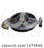Clipart 3d UFO Flying Saucer Spacecraft 23 Royalty Free CGI Illustration by Ralf61