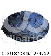 Clipart 3d UFO Flying Saucer Spacecraft 25 Royalty Free CGI Illustration by Ralf61