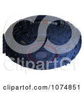 Clipart 3d UFO Flying Saucer Spacecraft 26 Royalty Free CGI Illustration by Ralf61
