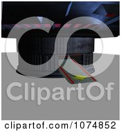 Clipart 3d UFO Flying Saucer Spacecraft With A Ramp Down Royalty Free CGI Illustration by Ralf61