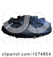 Clipart 3d UFO Flying Saucer Spacecraft 28 Royalty Free CGI Illustration by Ralf61
