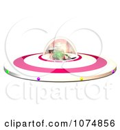 Clipart 3d Alien In A UFO Flying Saucer Spacecraft 1 Royalty Free CGI Illustration