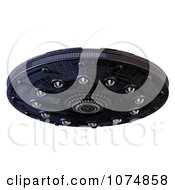 Clipart 3d UFO Flying Saucer Spacecraft 11 Royalty Free CGI Illustration