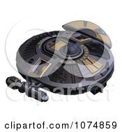 Clipart 3d UFO Flying Saucer Spacecraft 21 Royalty Free CGI Illustration