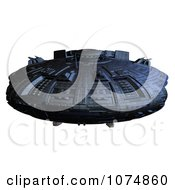 Clipart 3d UFO Flying Saucer Spacecraft 24 Royalty Free CGI Illustration