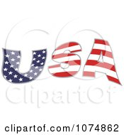 Wavy American Flag Patterned USA