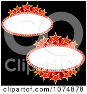 Clipart Oval Starry Movie Banners With Copyspace Royalty Free Vector Illustration