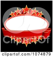 Clipart Oval Starry Movie Banner With Copyspace Royalty Free Vector Illustration